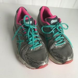ASICS Pink and Teal Gel Running Shoes